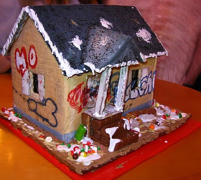 Finally!   A gingerbread crack house